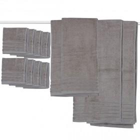 مايكرو كوتون – طقم مناشف من 12 قطعة – رمادي حجري