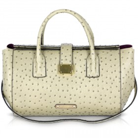 Jack French London - Fitzrovia Grey Ostrich Bag