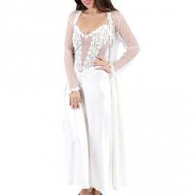 ثوب فلورا نيكروز + روب - اللون الأبيض العاجي
