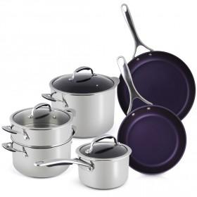 منال العالم – طقم أدوات الطبخ من الستانلس ستيل 9 قطع
