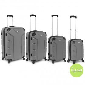 طقم حقائب فلاش من 3 مع هديّة – رمادي