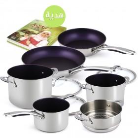 منال العالِم – طقم طبخ من الستانلس ستيل مع هديّة