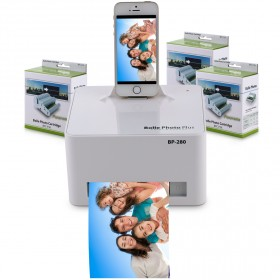 Bolle - Apple Docking Photo Printer with 108 Prints Cartridge