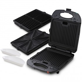 Aardee - Interchangeable 3 Plate Grill - Black
