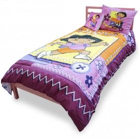 طقم أغطية السرير للأطفال – مغامرات دورا