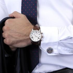 توماس إيرنشو – ساعة لونجكيس بالذهب الوردي مع أزرار أكمام